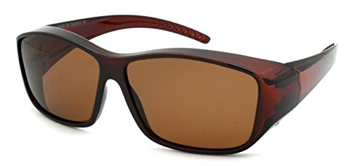 Edge I-Wear Unisex Style Wrap Sunglasses with Polarized Lens - Sunglasses Wrap Designer Around