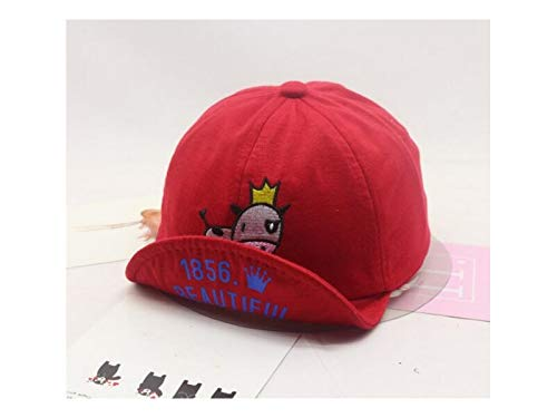 (Zehaer Baby Decoration Hat Cow Embroidery Baby Cotton Cap Kids Sun Protection Hat Sun Visor for 1-3 Years Old(Red) Cute Cap (Color : Red, Size : 50-52cm) )