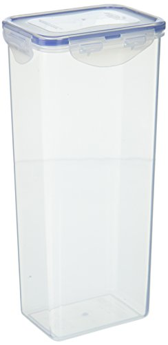 LOCK & LOCK Airtight Rectangular Tall Food Storage Container, Pasta Box 67.63-oz/ 8.45-cup,(Pack of 4)