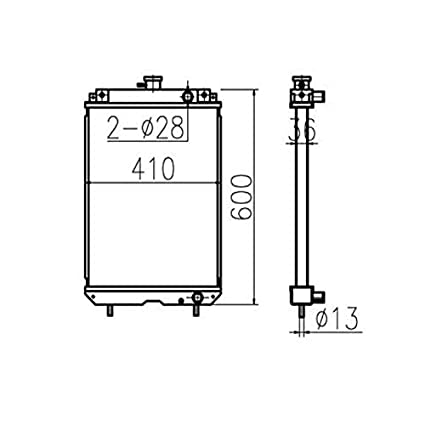 Water Tank Radiator Core Assy 2782195 278 2195