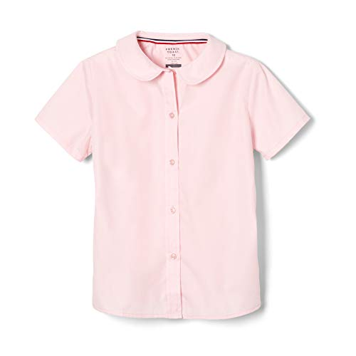 French Toast Little Girls' Short Sleeve Peter Pan Collar Blouse, Pink, 6]()