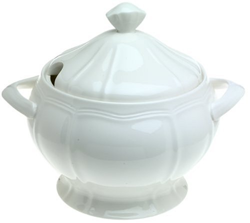 Mikasa Antique White Covered Soup Tureen, 140-Ounce