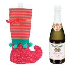 Celebrate the Occasion Gift Set with Stocking Bottle Hodler and Martinelli's Sparkling Apple Cider (Sparkling Cider)