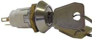 LORLIN SRL-5-M-D-2 SWITCH, KEY LOCK, DPDT, 5A, 115V (1 piece)