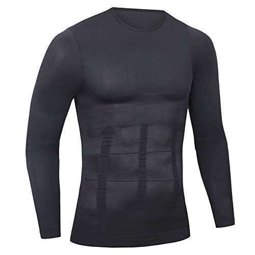 Ypnrd Men Weight Loss Shirt Undershirt Suit Exercise Fitness Long Sleeve Compression Muscle Tank NY09,XL