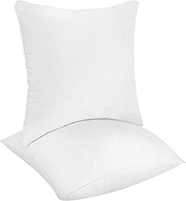 Utopia Bedding Decorative Pillow Inserts (Pack of 2, White) - Square Pillow
