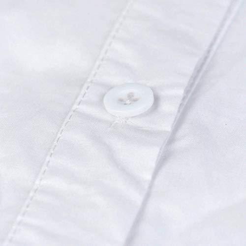 Blouse Blanc Chic Blouse Haut Tops Cou Dsinvolte Femme Bouffant Manches Chemise V Office Printemps lgant Longues Automne Blanc Shirts Chemisier Mode Fashion qB4wqA