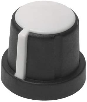Knob 1231-M 20.07 mm Threaded Shaft Round with Side Indicator Line Pack of 20 5.99 mm Thermoplastic Elastomer 1231-M