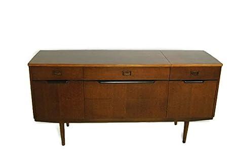 Modern Dark Wood Credenza : Amazon.com: teak mid century modern bar console or credenza mcm