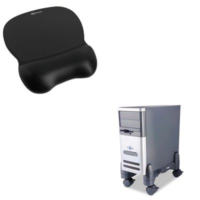 KITIVR51450KTKCS200B - Value Kit - Kantek Mobile CPU Stand (KTKCS200B) and Innovera Gel Mouse Pad w/Wrist Rest (IVR51450)