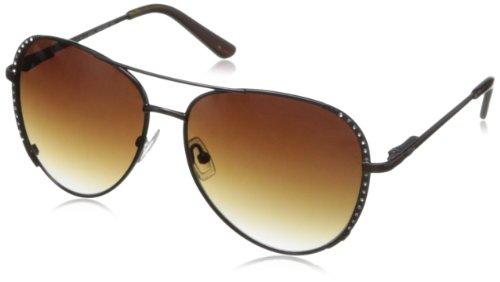 O by Oscar de la Renta Eyewear Women's SSC4020 Aviator Sunglasses,Shiny Brown,174 - O By La Oscar De Sunglasses Renta