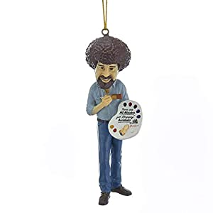 """Best Epic Trends 31FZIsSX-NL._SS300_ Kurt Adler Bob Ross """"There Are No Mistakes, Just Happy Accidents"""" Figural Ornament"""