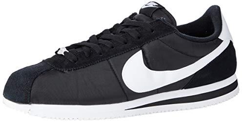 Nike Men's Cortez Basic Nylon Black/White/Metallic