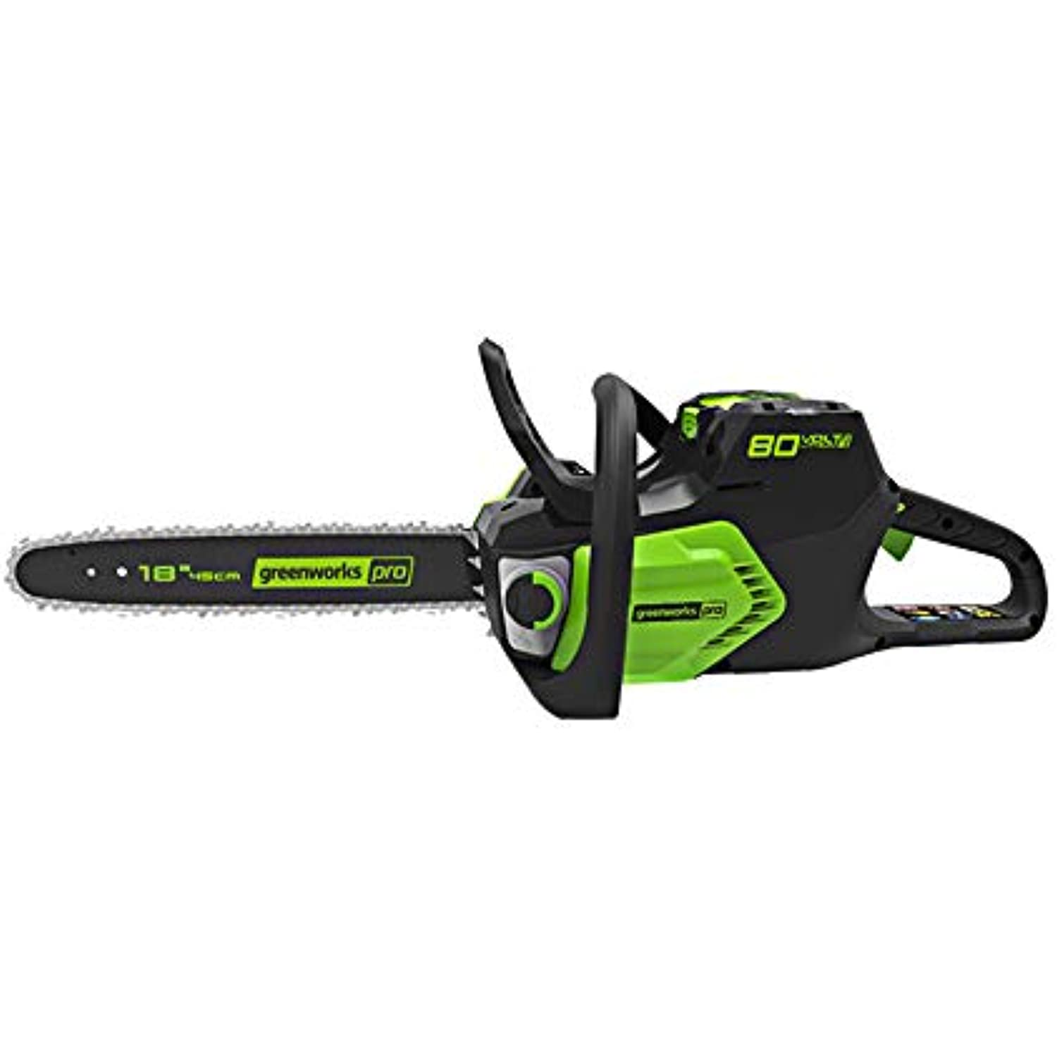 Greenworks Pro 80V 18 inch Cordless Chainsaw with Chain Oil and Hardcase, Tool Only, CS80L00