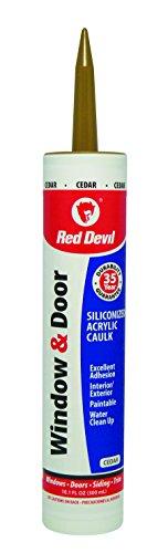 (Red Devil 084630 Siliconized Acrylic Caulk 10.1-Ounce Cedar)