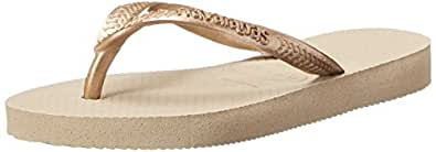 Havaianas Slim Flip Flop (Toddler/Little Kid), Sand Grey/Light Golden, 23-24 BR (9 M US Toddler)