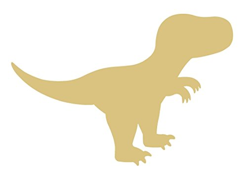 T-rex Dinosaur Unfinished Wood Shape Cutout Variety Sizes USA Made Nursery Decor -