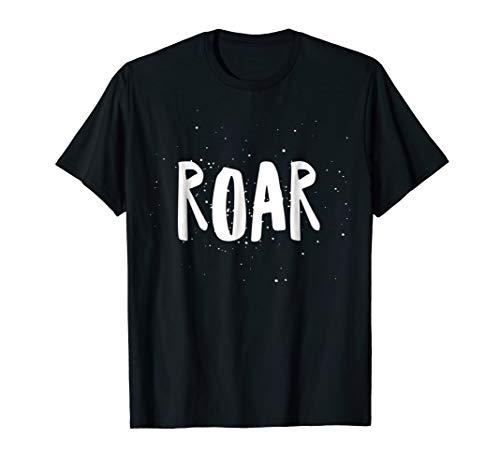 ROAR - Paint Splatter Lion Growl - White Text - T Shirt ()