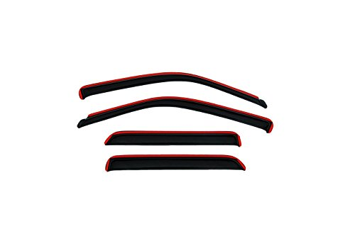 Auto Ventshade 194109 In-Channel Ventvisor Side Window Deflector, 4-Piece Set for 2009-2018 Dodge 1500 Crew Cab, 2010-2018 Ram 2500 & 3500 w/Crew & Mega Cab; 2019 Ram 1500 Classic Crew -