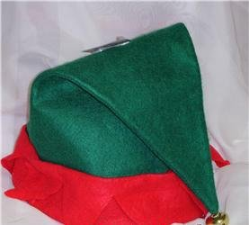 [Adult Felt Elf Hat with Jingle Bell] (Elf Hats For Adults)