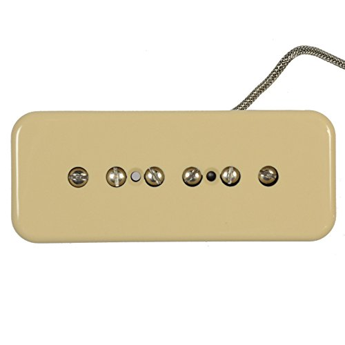 Lindy Fralin P-90 Soapbar Pickup Neck Cream 1-Conductor Braided