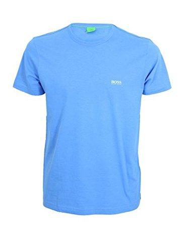 Hugo Boss Mens Short Sleeve Tee Crewneck T-shirt - Blue Sky (XXL)