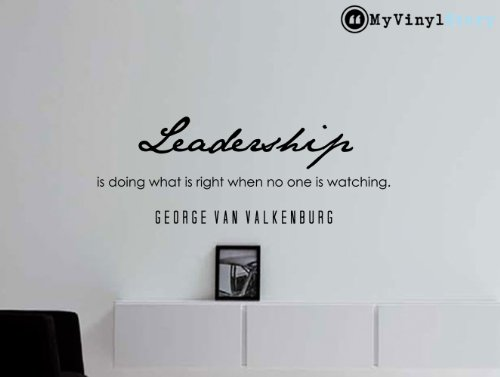 My Vinyl Story George Van Valkenburg Inspirational Business Quote Wall Decal Leadership 43x16 Inches by My Vinyl Story