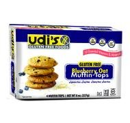 Udi's Gluten Free Moist and Tasty Muffin Tops, Blueberry Oat, Dairy Free and Nut Free, 4 Count
