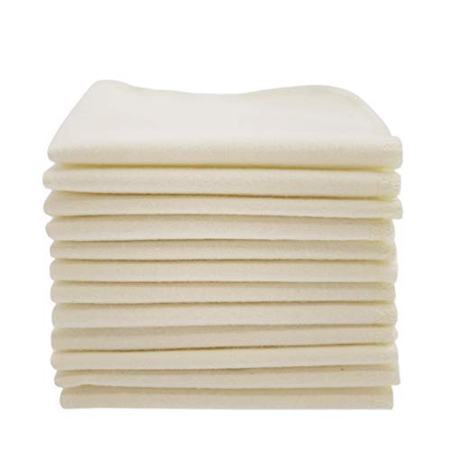 ImseVimse Organic Cotton Washable Reusable Baby Wipes 12 Pieces (Natural) from Imsevimse