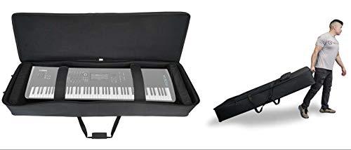 Rockville Rolling Bag Keyboard Case w/Wheels+Trolley Handle For Yamaha MODX8
