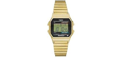 Timex Gold Coloured Digital Indiglo Watch (991581800) -  915/8180