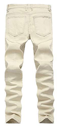 31 Los Hombres Delgados Pantalones Vaqueros Skinny Destruidos Vaqueros Khaki2 Elásticos Los Size Pantalones Hombres Delgados De Ajustados De Vaqueros Pantalones Ajustados Pantalones Color 4UO6B