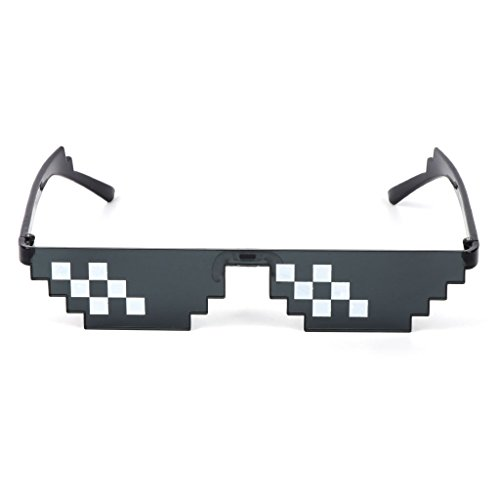 UJuly Black Funny Mosaic Sunglasses Toy for Kids Party Supplies Cool Mischievous Decoration for Men Women Adults by UJuly (Image #3)