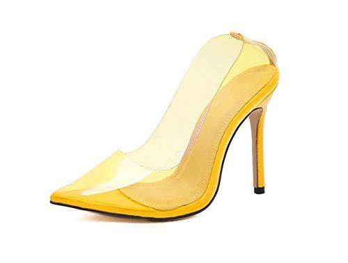 PVC Stiletto EU Party 11Cm Heel High Schuhe Schuhe Mamrar Zehen Spitzen Pumpen Transparente 40 Größe Kleider Farbe 35 Frauen FZqnxXHz