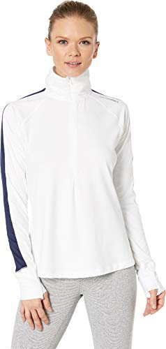 (Brooks Women's Dash 1/2 Zip White/Navy)