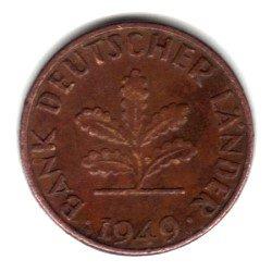 1949-J West Germany (Federal Republic) 1 Pfennig Coin KM#A101