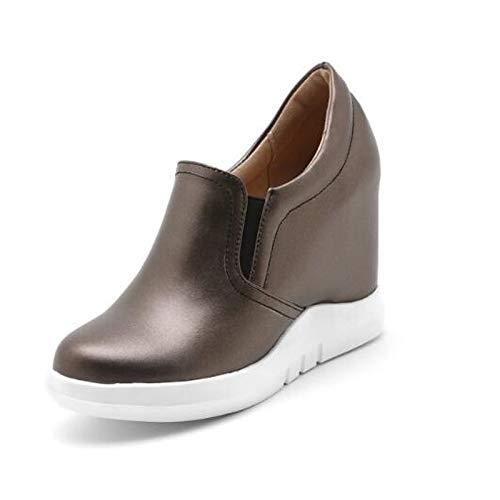 Pu Camello Redonda Plataforma Spring Las Sneakers plata poliuretano Zhznvx Mujeres De Comfort Punta White Blanca d8BxznO