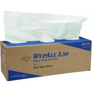 WypAll 05816 L30 Wipers, POP-UP Box, 9 4/5 x 16 2/5, 120/Box, 6 Boxes/Carton ()