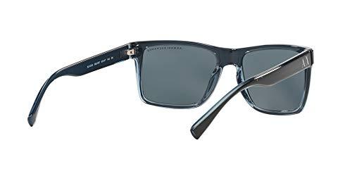 Sunglasses Exchange Armani AX 4016 805187 BLACK/TRANSP. BLUE GREY by A|X Armani Exchange (Image #7)