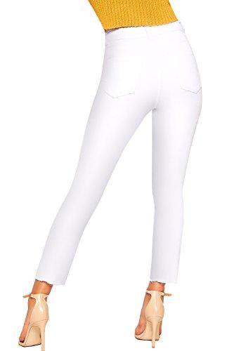 Blanc Toile 42 Femmes WearAll Jeans Jean De Dames Nouveau 34 Large Extrme Jambe Afflig Mom Dchirs Poche xgAwARaU