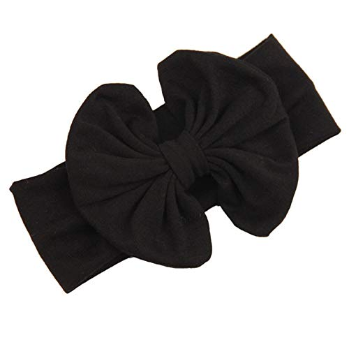 ❤️ Mealeaf ❤️ 2015 Big Bowknot Baby Girls Cotton Headband Children Kids Head Wraps Accessories(BK,)