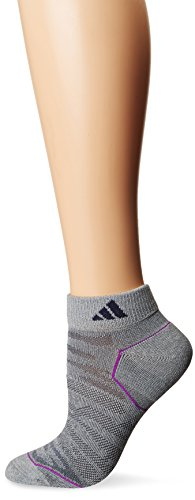 adidas Womens Superlite Prime Mesh Low Cut Socks (2-Pack), Clear Grey/CH Solid Grey Marl, Medium