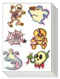 Halloween Pack of 50 sheets Temporary Tattoo