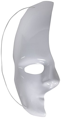 Forum Novelties White Half Mask - Phantom of The Opera