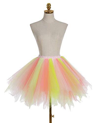 50's Niñas Falda Mujeres Fiesta Rainbow Y Enagua A Color Tul Para Adult De Juego Tutu 10 Vintage Memoryee Pn1OWEpw
