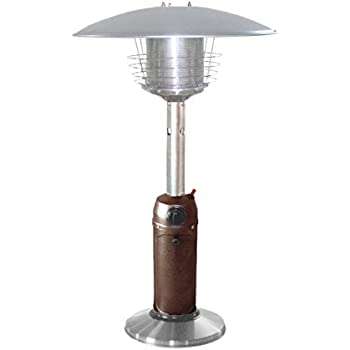 AZ Patio Heaters HLDS032 BB Portable Table Top Stainless Steel Patio Heater,  Hammered Bronze Finish