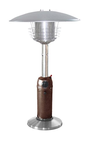 Outdoor Heater Finish - AZ Patio Heaters HLDS032-BB Portable Table Top Stainless Steel Patio Heater, Hammered Bronze Finish