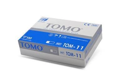 TOM-15 - TOMO Adhesion Microscope Slides, with Clipped Corners - TOMO Adhesion Microscope Slides, Matsunami Glass - Case of (174 Tom)