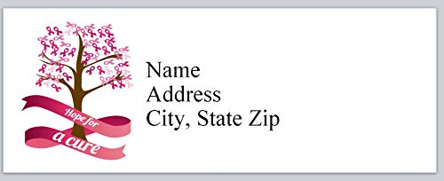 150 Personalized Address Labels Breast Cancer Think Pink Roses (P 339)]()