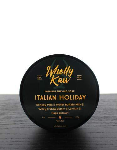 Wholly Kaw Tallow Shaving Soap Italian Holiday